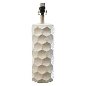 Picture of White Honeycomb Table Lamp Base- 21-in
