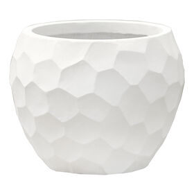 Picture of 11-in. Mango Prism Round Planter, Cream
