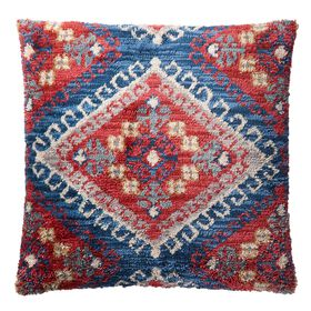 Picture of Rust & Blue Tribal Toss Pillow- 22 x 22-in