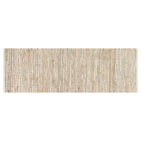 Picture of EDGE LEATHER JUTE IVORY RNNR