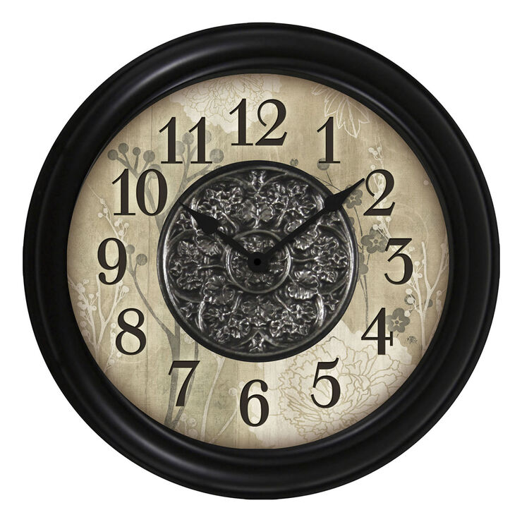 16-in Floral Pattern Clock