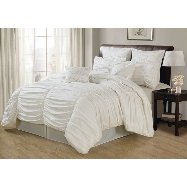 White Deluxe Danielle Comforter King At Home