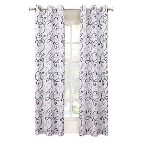 Picture of White Orson Pattern Window Curtain Panel 84-in