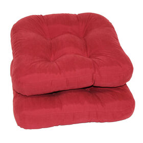 Picture of Micro Suede Chair Pad, Red, 2pk