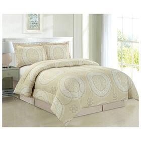 Picture of Tan Medallion Comforter Set