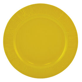 Picture of Yellow and Gray Melamine Dinner Plate - Mustard