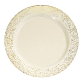 Picture of 10.25-in Misty Gold and Bone Plates - set of 10
