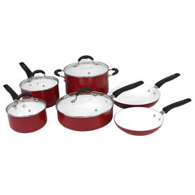 Picture of 10 Piece Aluminum Cookware Set - Red