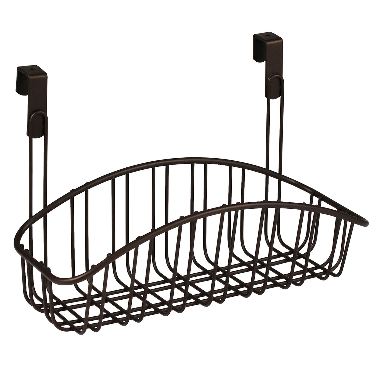 Over The Cabinet Basket Small Over The Cabinet Door Metal Basket Bronze At Home