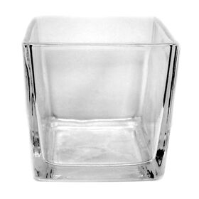 Picture of Clear Glass Cube Vase- 3x3 in.