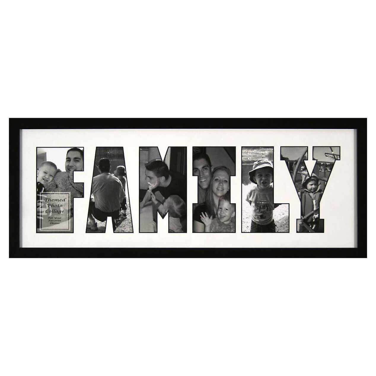 8 x 22 in family letter collage frame