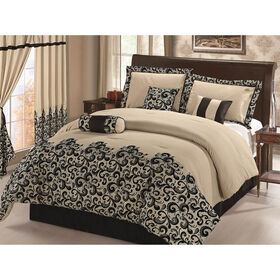 Picture of Ivory Luxe Elegant Scroll Comforter King