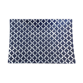 Picture of Blue and White Moroccan Tray