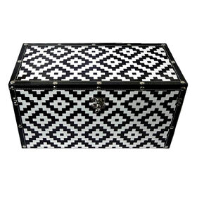 Picture of Black and White Geo Trunk 16.5-in