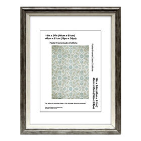 Picture of 18 X 24-in Gray and White Janice Poster Frame