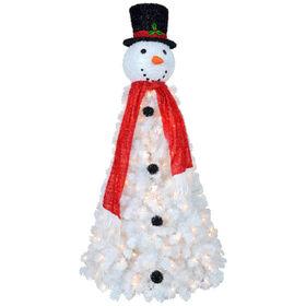 D8 6-ft Pre-Lit Snowman Christmas Tree
