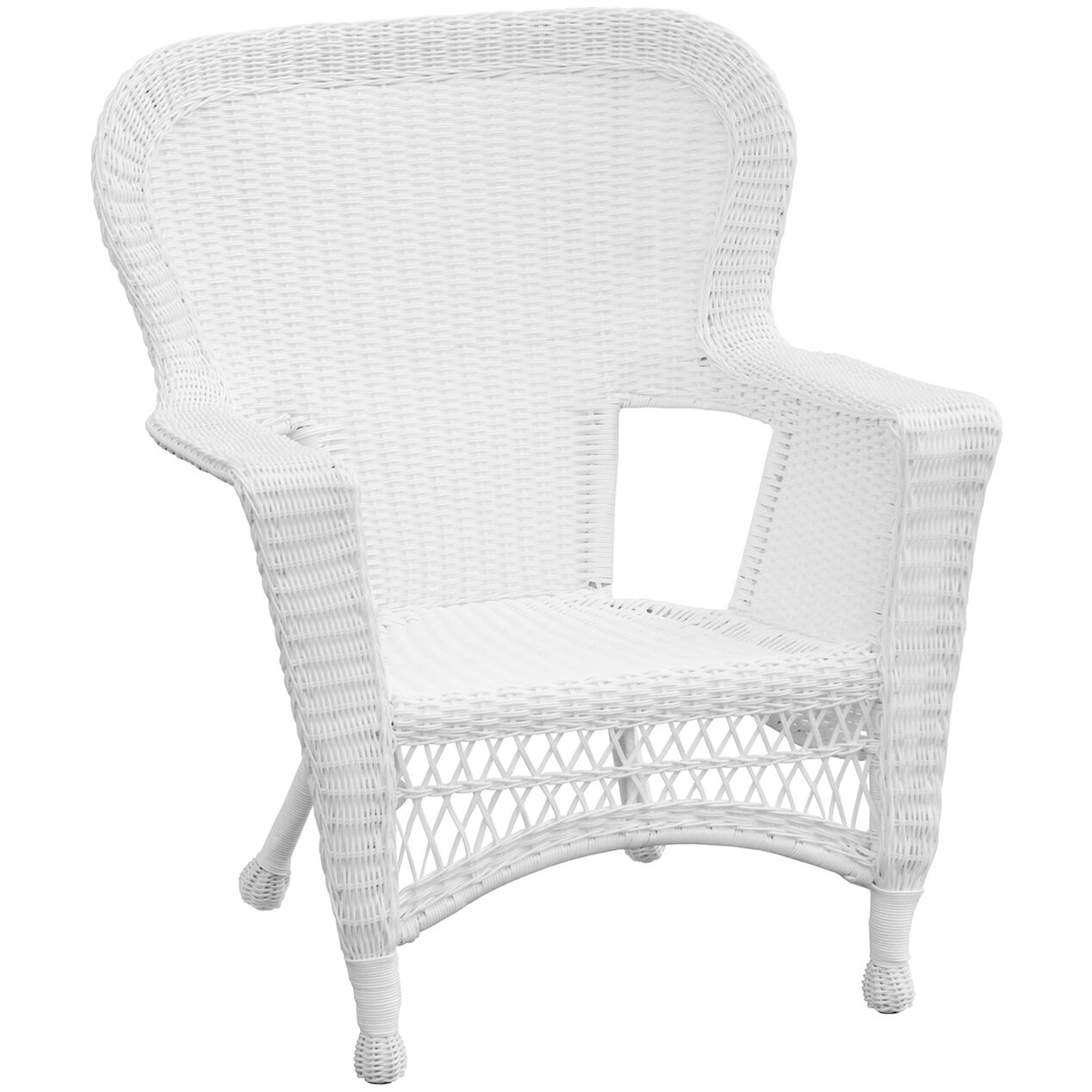 White Wicker Chair At Home