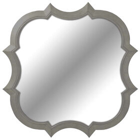 Picture of 14 X 14-in Pewter Quatrefoil Mirror