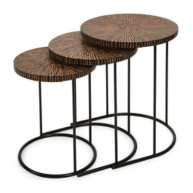 Picture of Hoki Wood Coconut Shell Table, Small