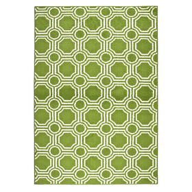 Picture of Lime and White Mosaic Accent Rug- 24x40 in.