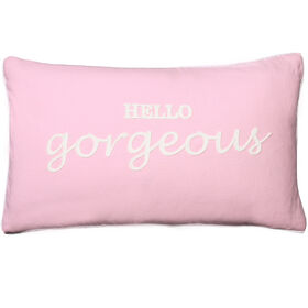 Picture of Light Pink Hello Gorgeous Pillow- 13 x 22-in