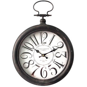 Picture of AC 11D MTL CLOCK W/HANDLE BLK