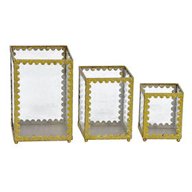 Picture of Gold & Glass Small Display Case, 3 Assorted (sold separately)