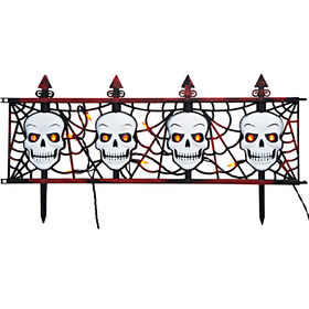 Picture of 3-Piece Lighted Skull Fence