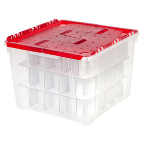 Picture of Plastic Lid Christmas Ornament Storage Box