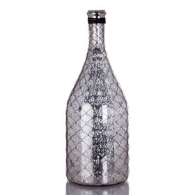 Picture of Mercury Glass Bottle with Wire 19.75-in