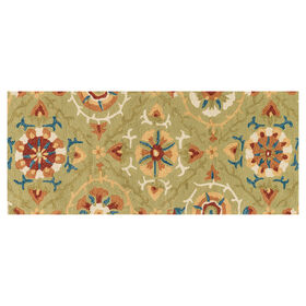 Picture of Layla Suzani Green Multi Runner 2x5-ft