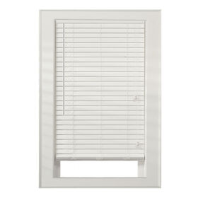 "Picture of 2"" Faux Wood Blinds- White 35x72-in"