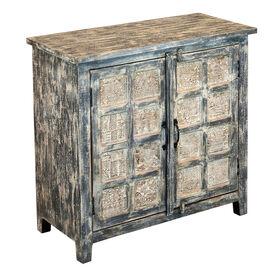 Picture of India Wood 2-Door Panel Cabinet, 35x35-in.