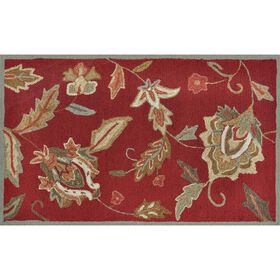 Picture of A91 Crimson Floral Rug