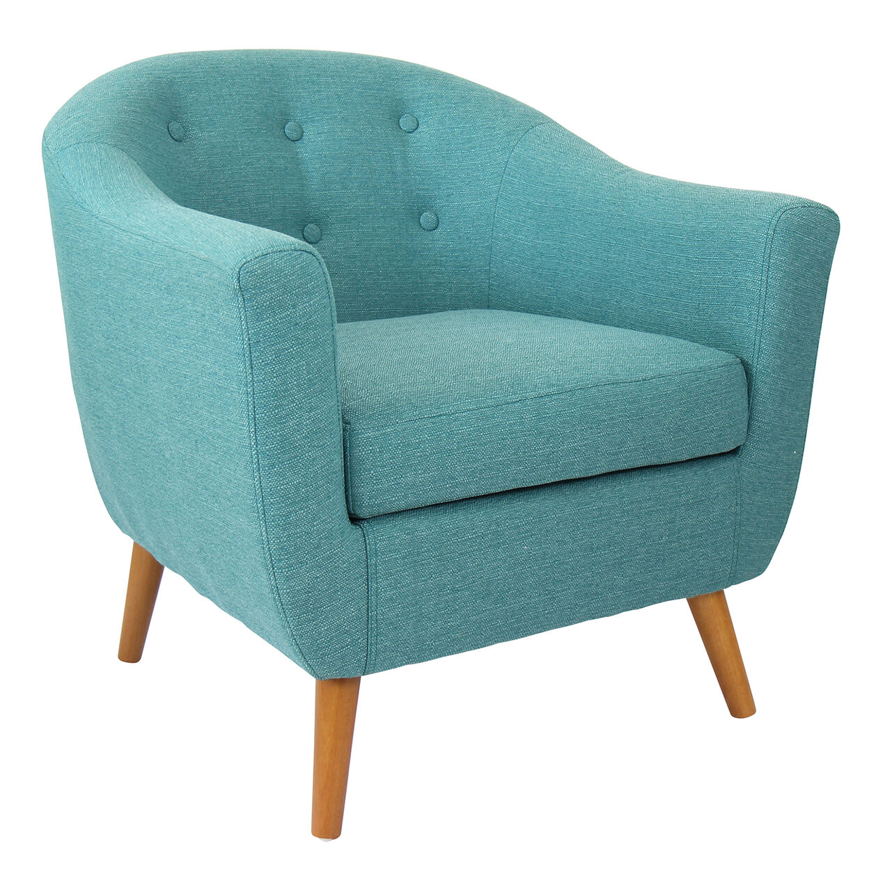 Rockwell accent chair teal at home for Occasional seating