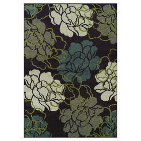Picture of B93 Chocolate Floral Rug- 5x7 ft