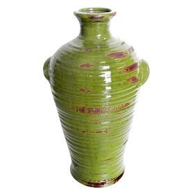 Picture of Green Antique Ceramic Handle Vase- 13.8 in.