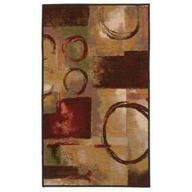 Picture of Contemporary Art Exeter Accent Rug 17 X 27-in