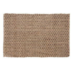 Picture of B192 Chocolate Criss Cross Jute Rug