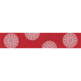 Picture of Red Lace Table Runner- 14-72