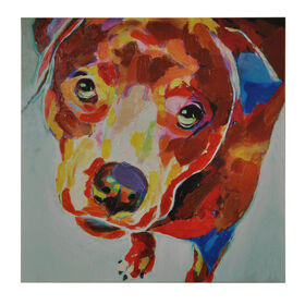 Picture of 50 X 50-in Canvas Colorful Dog Gallery Art