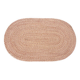 Picture of Brown Braided Oval Accent Rug- 21x34 in.