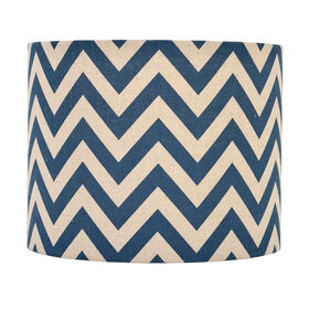 Picture of Navy Chevron Print Lamp Shade 10X10X8