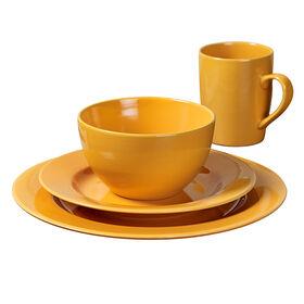 Picture of 16-Piece Round Ceramic Dinnerware Set, Yellow