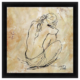 Picture of 18 X 18-in Woman Sketch Framed Studio Art