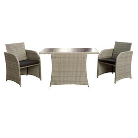 Grey Inman Park 3 Piece Wicker Bistro Set