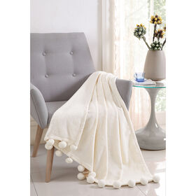 Picture of Ivory Montego Pom Throw