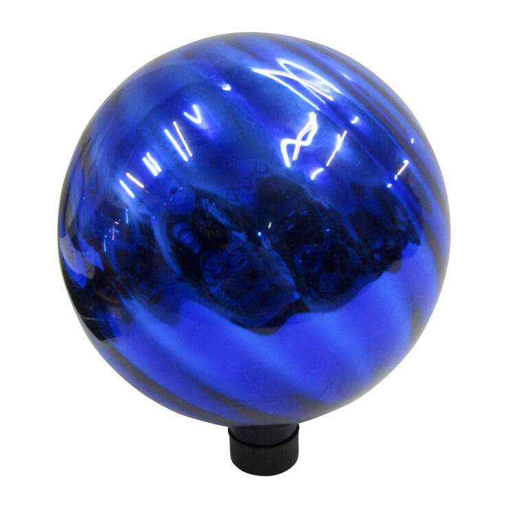 10 Blue Gazing Ball Swirl At Home