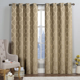 Picture of Princeton Jacquard Panel 52 X 84 - Taupe