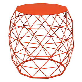 Picture of Decagon End Table, Orange, 18-in.